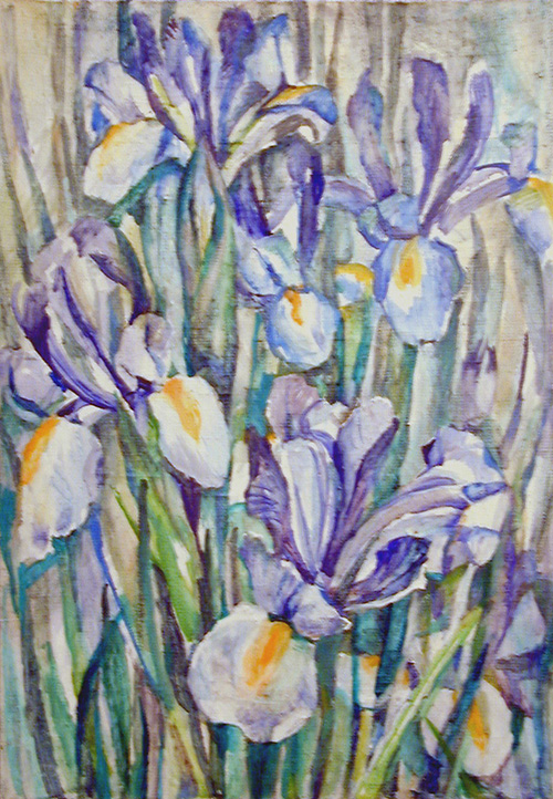 Blue irises60x40cm - 1984