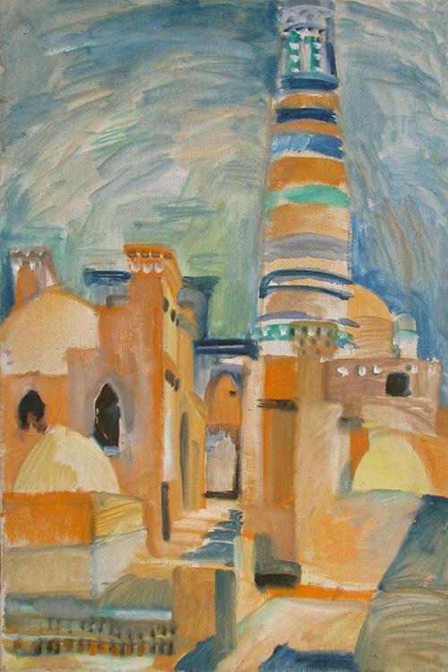 Khiva. Street68x46cm - 1985