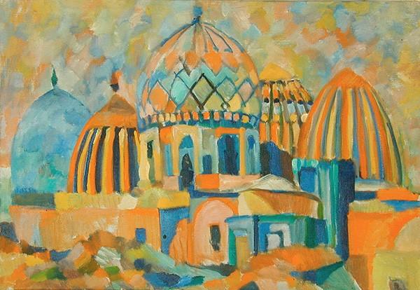 Самарканд. Шах-и-зинда48x68см - 1985