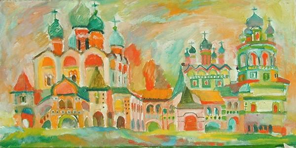 Монастырь около Новгорода45x66см - 1985