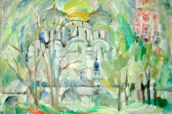 Новодевичий монастырь45x68см - 1986