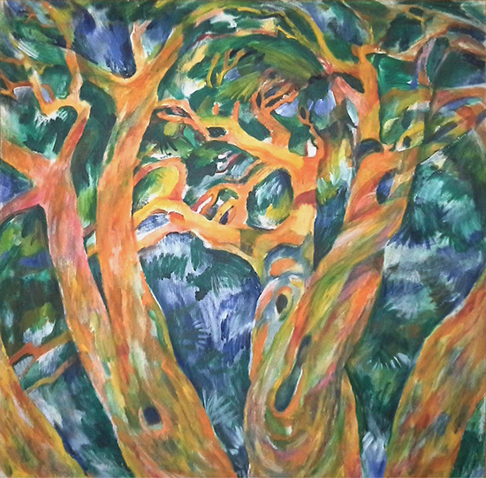 Portrait of a pine tree on Jaroslavka100x100cm - 1987