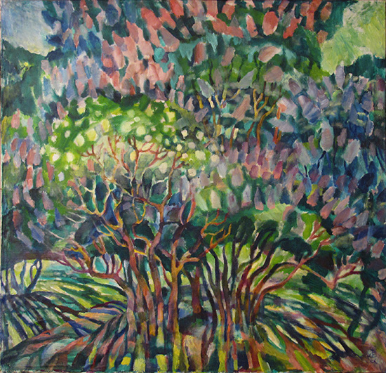 Lilacs in the park96x99cm - 1987