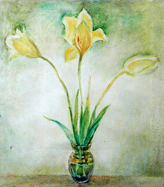 Yellow tulips60x60cm - 1989
