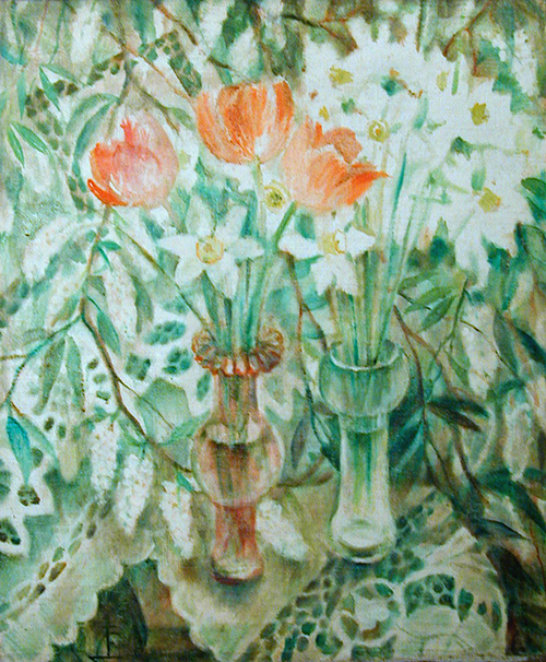 Daffodils and tulips95x78cm - 1991