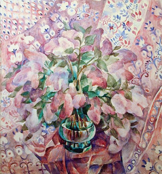 Сиреневый букет96x86см - 1991