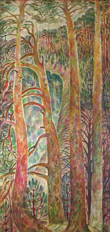 Spring. Pinetrees212x98cm - 1992