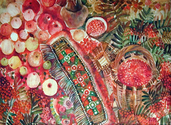 Big red still-life88x125cm - 1992