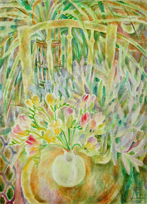 Freesia and Chlorophytum98x70cm - 1992