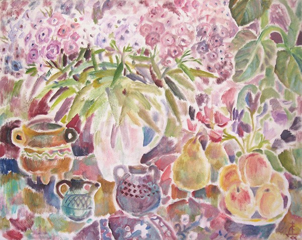 Flax, pears and peaches98x126cm - 1994