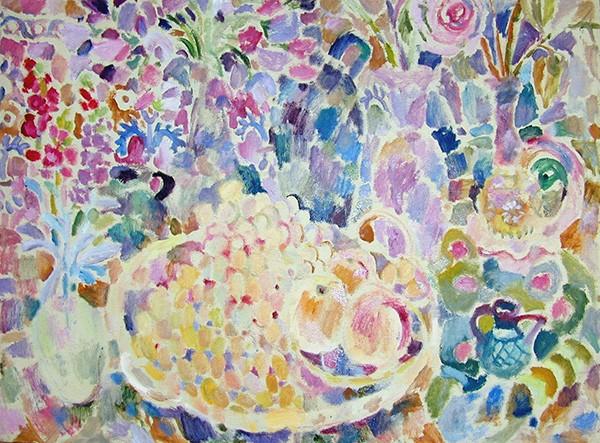 Цветы и виноград84x113см - 1994