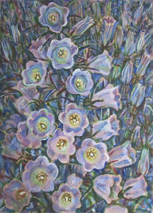 Садовые колокольчики97x70см - 1995