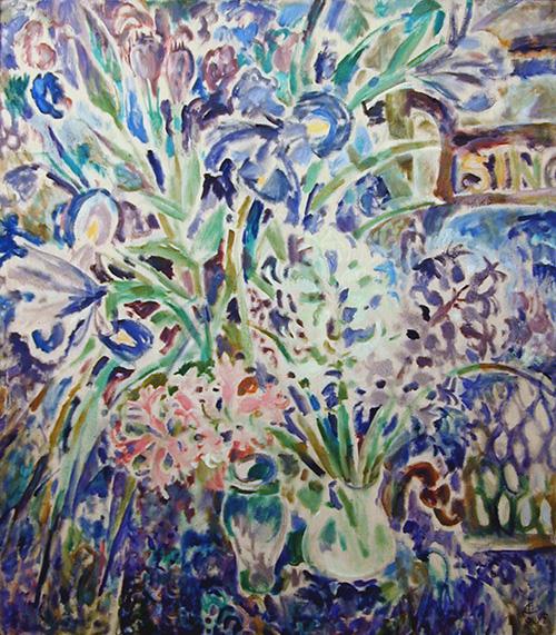 Большие цветы115x106см - 1995