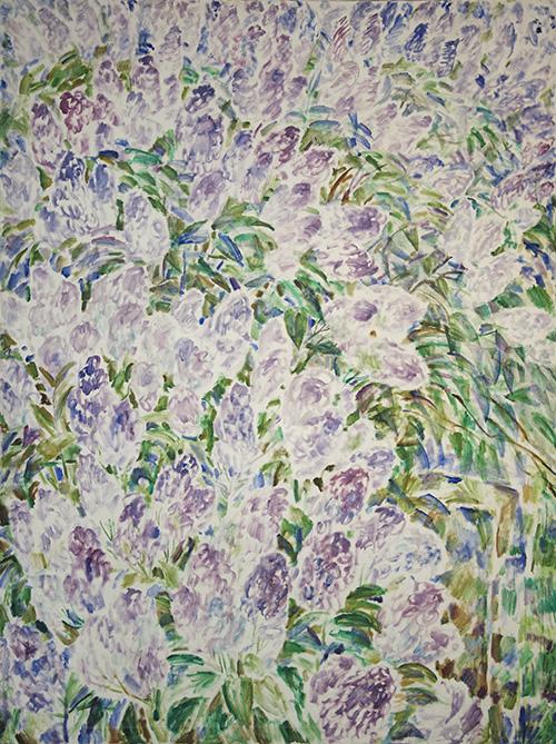 Large lilacs 2200x150cm - 1995