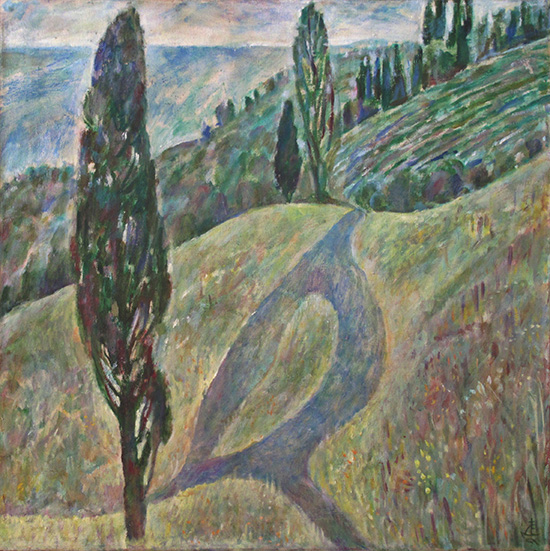 Road to sea71x71cm - 1995