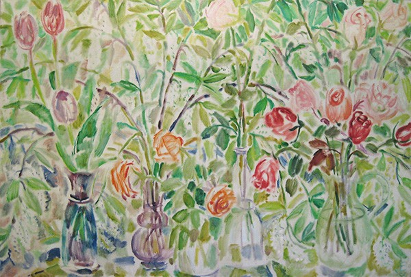 Flowers from an exhibition100x150cm - 1995
