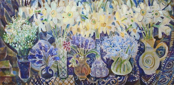 Flowers55x115cm - 1996