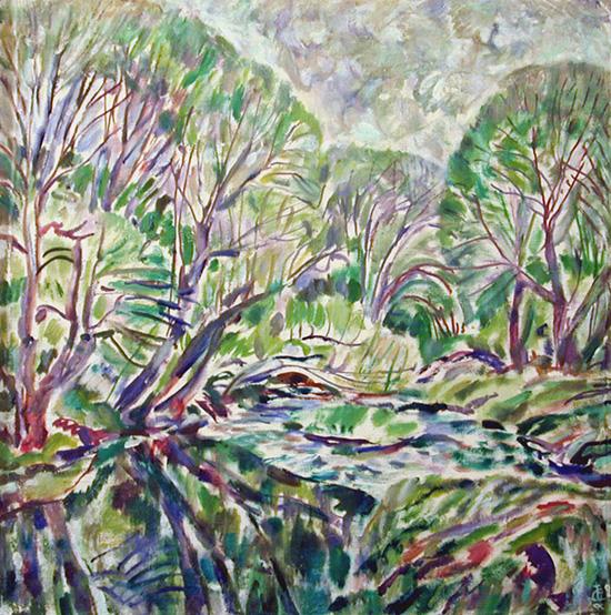 Desna river in spring68x67cm - 1996