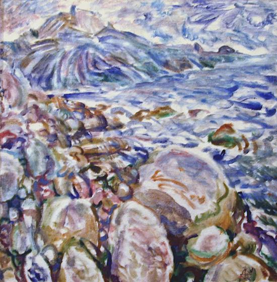 Storm in Laspi66x64cm - 1996