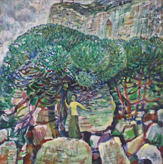 Девочка в Ласпи65x65см - 1996
