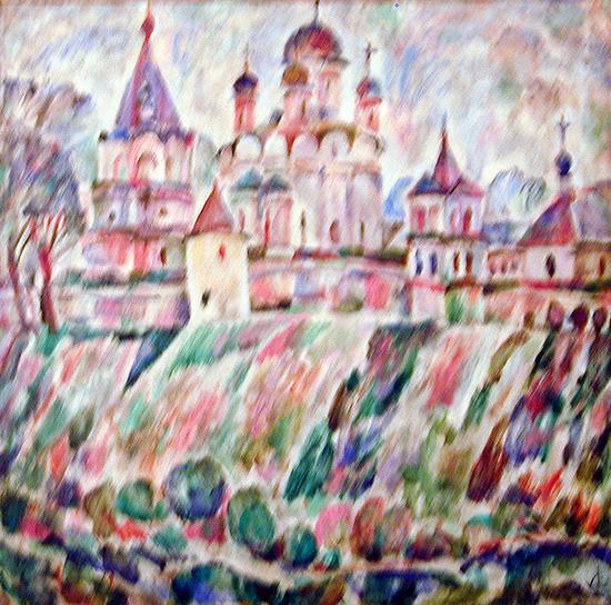 Лужецкий монастырь70x70см - 1996