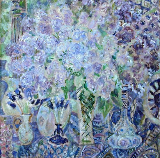 Bright lilac69x69cm - 1996