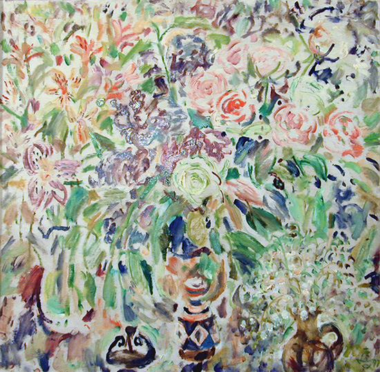 Anniversary flowers69x69cm - 1997