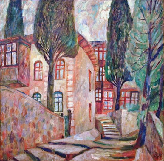 Street in Gurzuf69x69cm - 1997