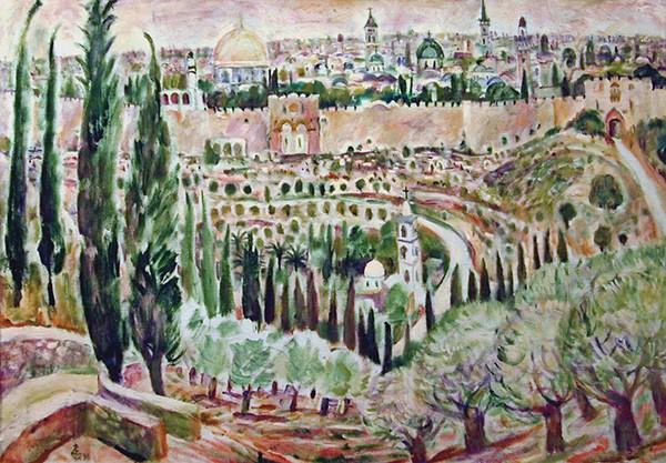 Иерусалим67x100см - 1998