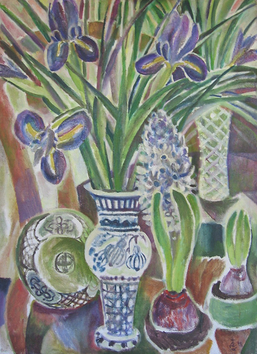 Irises and hyacynths98x70cm - 1998
