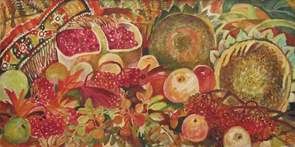 Осенние плоды50x100см - 1998