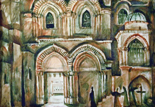 Church of the Resurrection. Jerusalem48x68cm - 1998