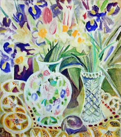 Tiny flowers55x49cm - 1999