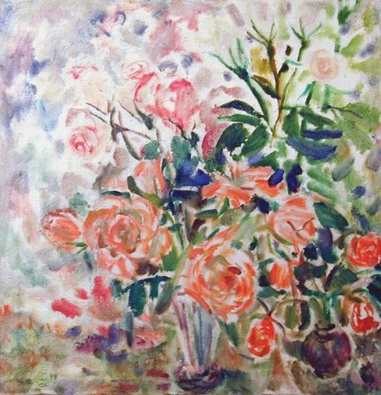 Summer roses67x65cm - 1999