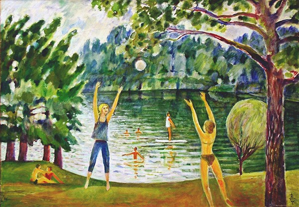 Volleyball in Durbav70x99cm - 2001