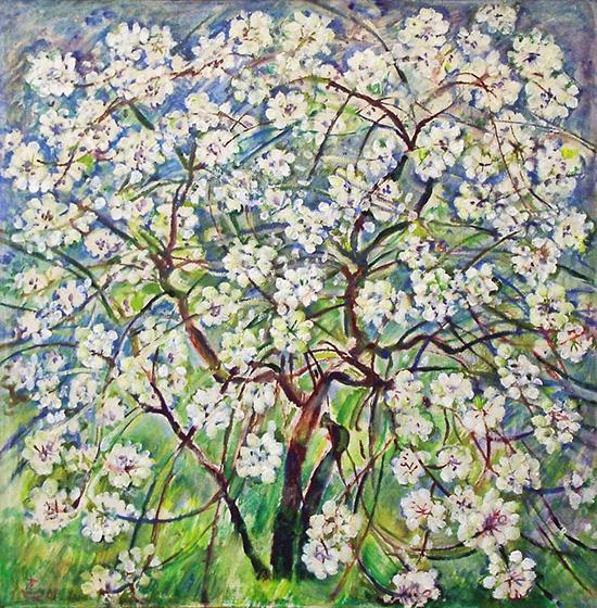 Cherry blossom67x68cm - 2002