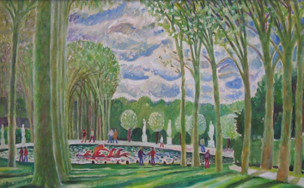 Весна в Версале50x80см - 2005