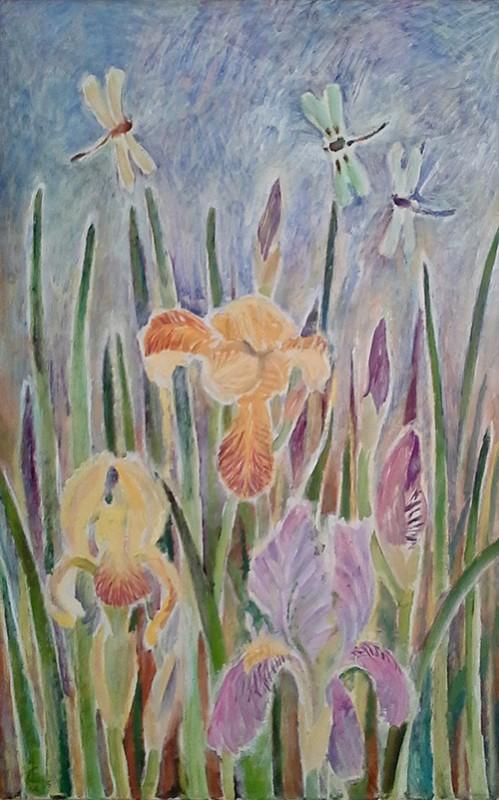 Irises 180x50cm - 2005