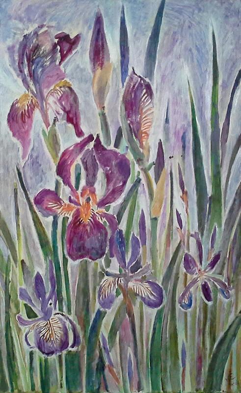 Irises 380x50cm - 2005