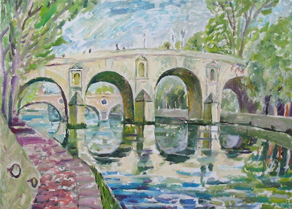 Bridge over Siene50x70cm - 2007