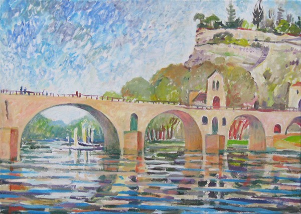 Bridge in Avignon50x70cm - 2007