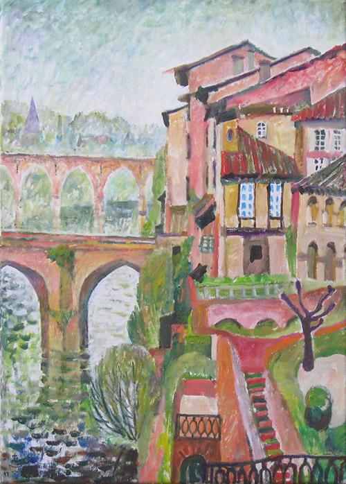 Bridge in Albi70x50cm - 2007