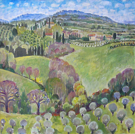 Fields in San Gimignano60x60cm - 2008