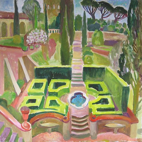 Сад виллы Агапа60x60см - 2008