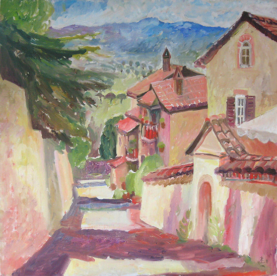 A street in Assisi60x60cm - 2008