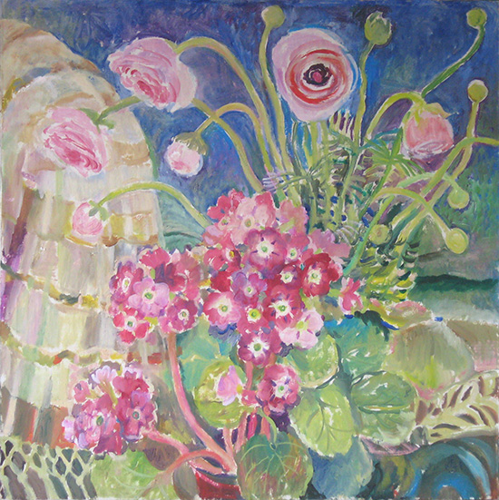Anemones and primula60x60cm - 2008