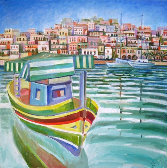 Maltese boat61x61cm - 2008