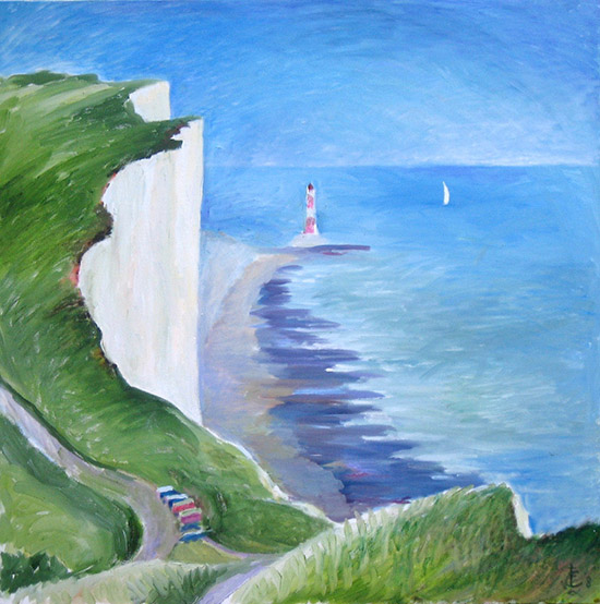 Beachy Head76x76cm - 2009