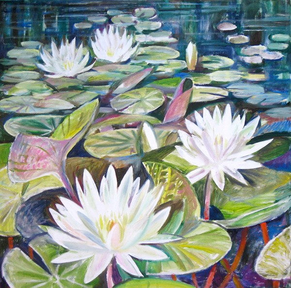 Water lilies75x75cm - 2009
