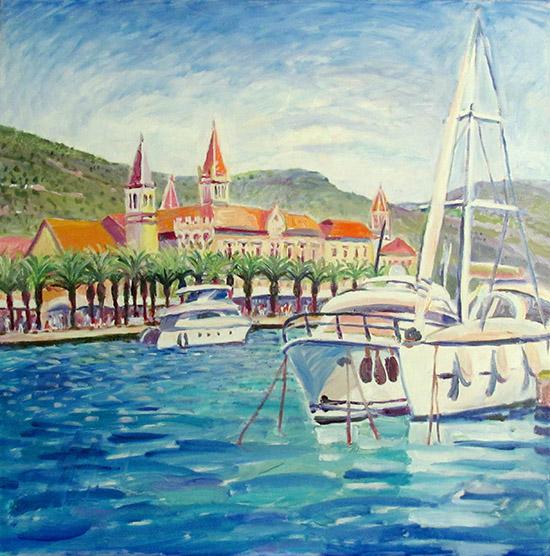 Trogir boats60x60cm - 2009